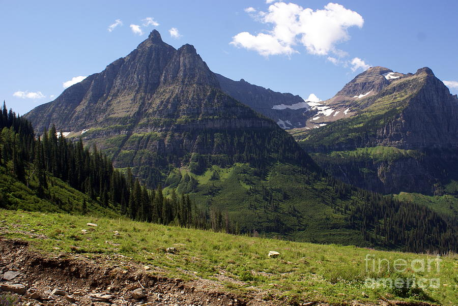 Mountains In Glacier Photograph  - Mountains In Glacier Fine Art Print