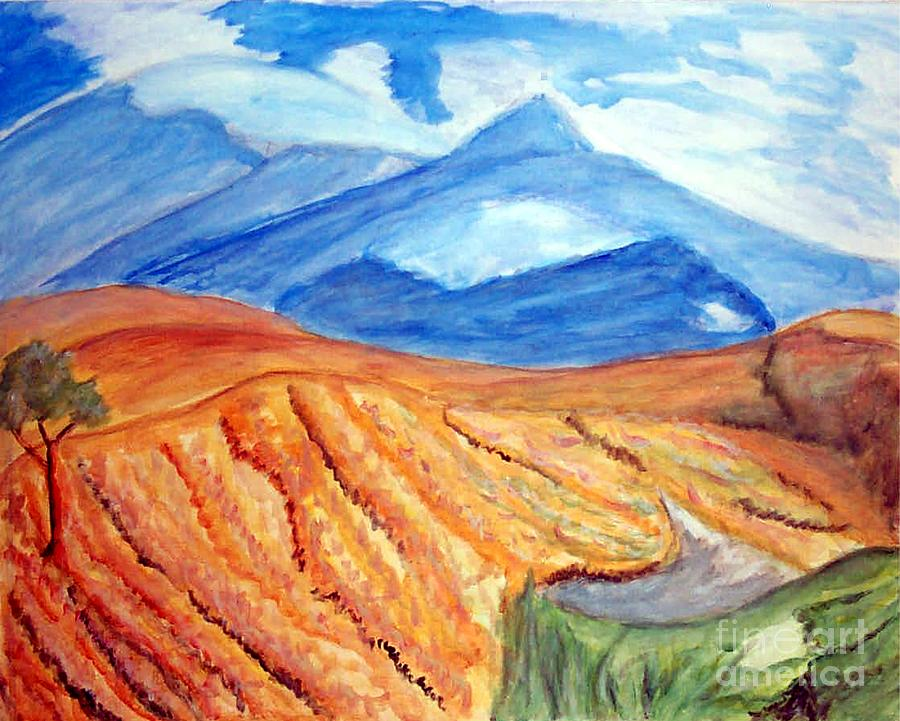 Mountains In Mexico Painting  - Mountains In Mexico Fine Art Print