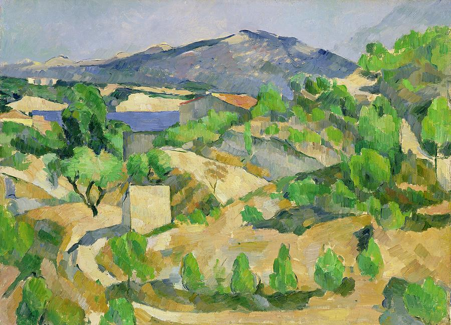 Mountains In Provence Painting