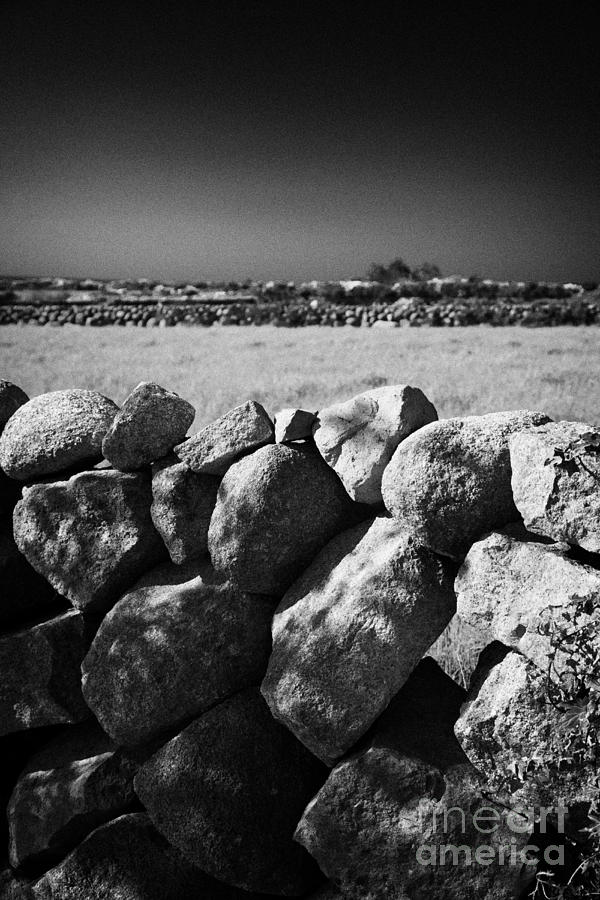 Mourne Granite Irish Dry Stone Wall Ireland Photograph