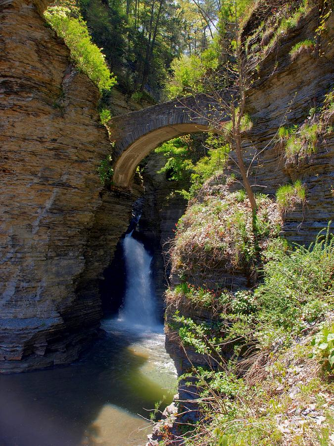 Mouth Of The Glen Watkins Glen State Prk Photograph