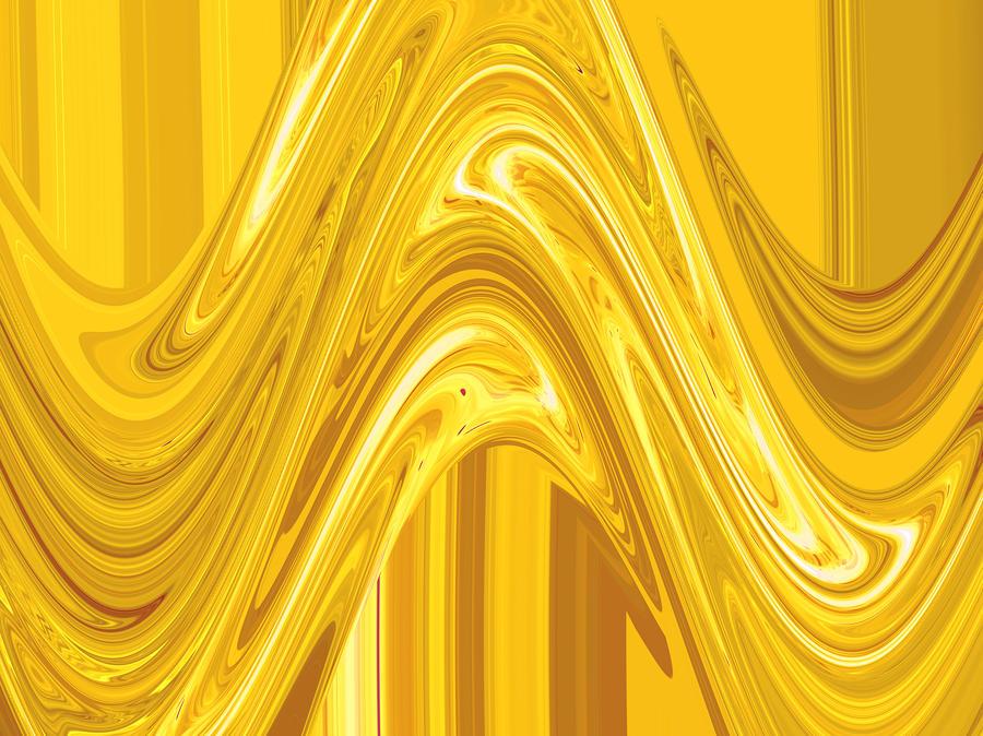 Moveonart Golden Light Wave Painting