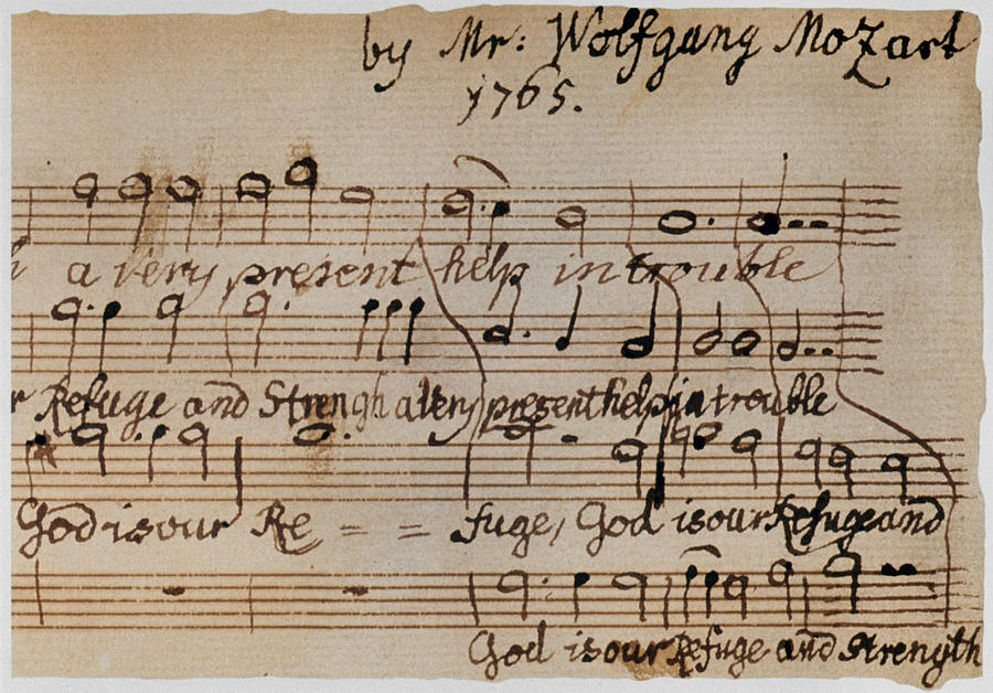Mozart: Motet Manuscript Photograph