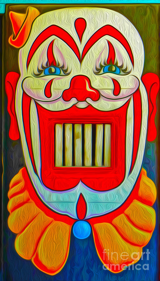 Mr. Clown Teeth Painting  - Mr. Clown Teeth Fine Art Print
