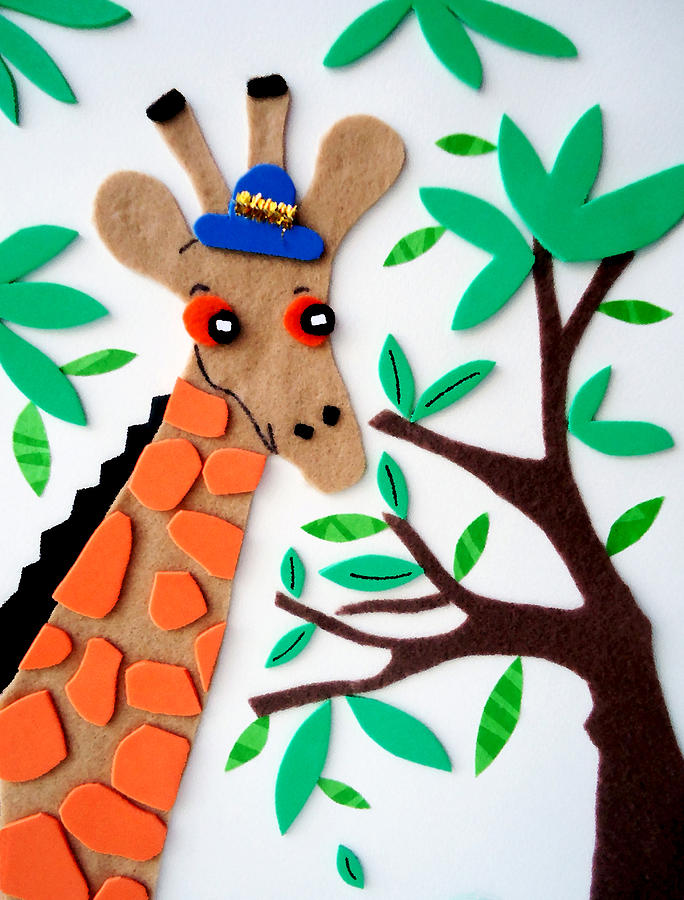 Mr. Giraffe Painting  - Mr. Giraffe Fine Art Print
