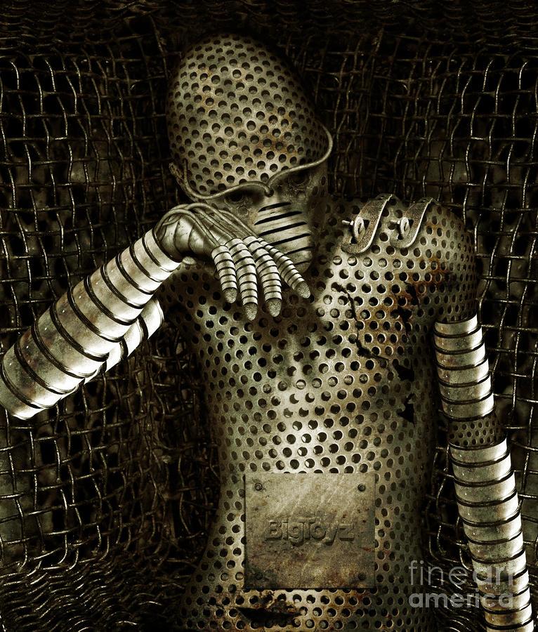 Robot Digital Art - Mr. K by Alexei Solha