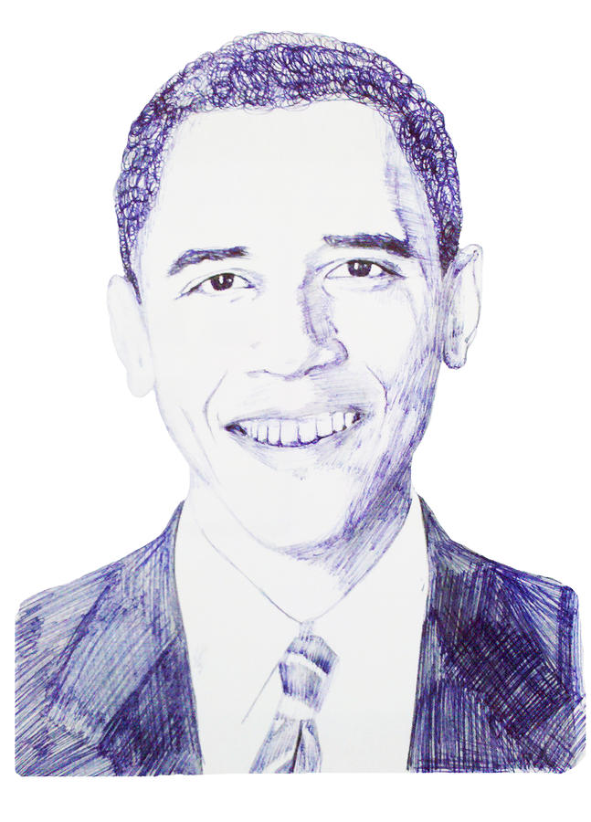 Mr. President Drawing  - Mr. President Fine Art Print