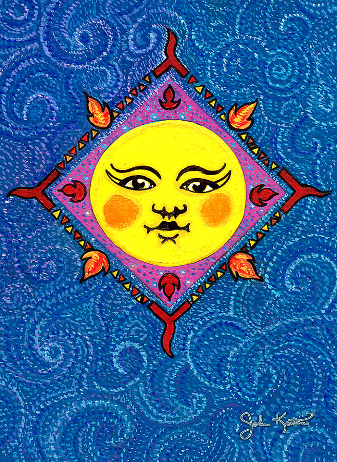 Mr.sun Painting  - Mr.sun Fine Art Print