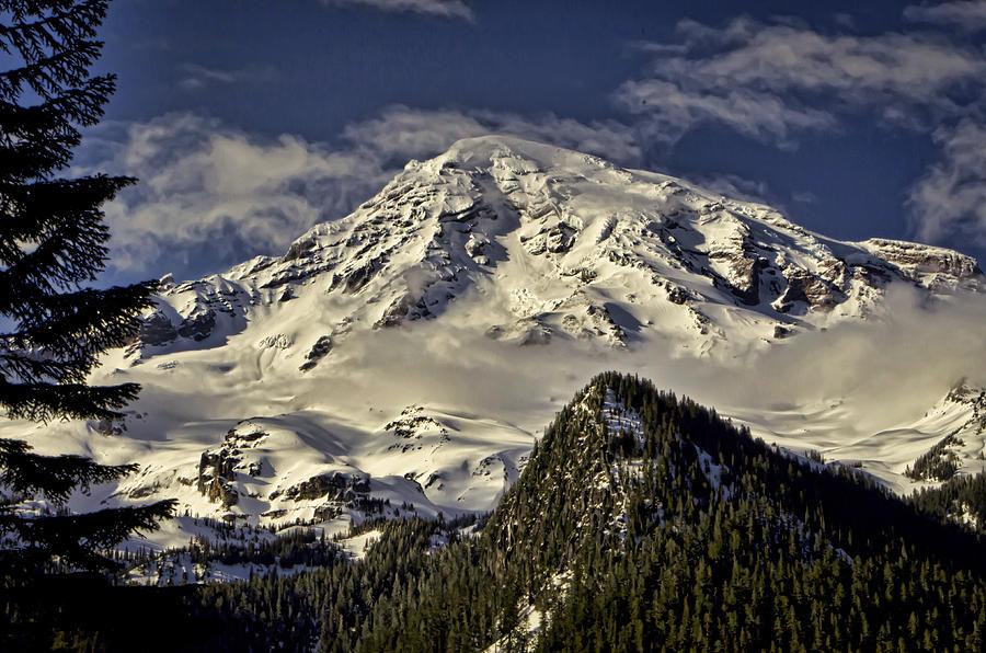 Mount Photograph - Mt Rainier by Heather Applegate