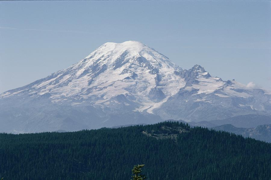 Mt. Rainier Seen From The Yakima Valley Photograph  - Mt. Rainier Seen From The Yakima Valley Fine Art Print