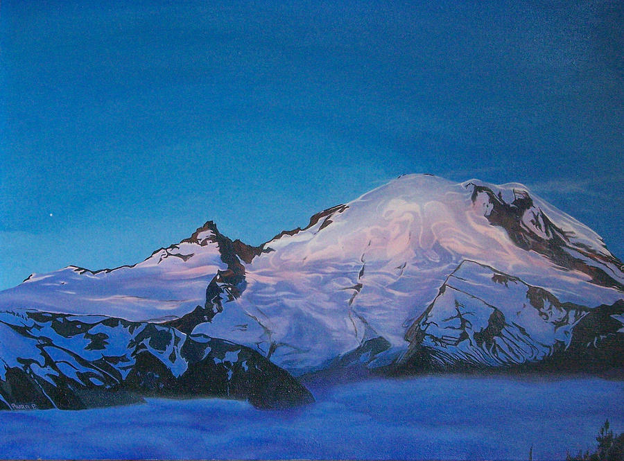 Mt Rainier Sunrise Painting  - Mt Rainier Sunrise Fine Art Print