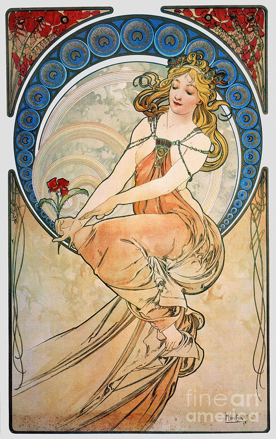Mucha: Poster, 1898 Photograph