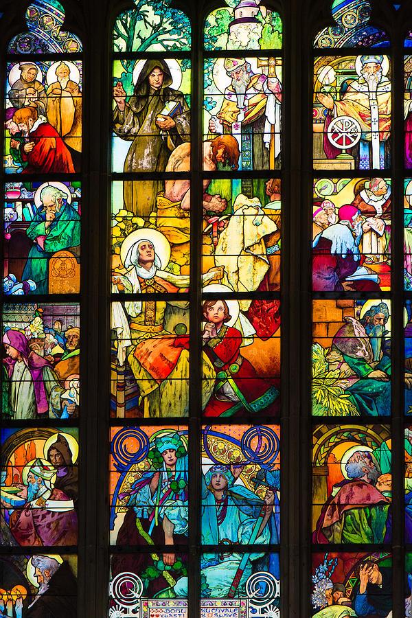 Mucha Window Saint Vitus Cathedral Prague Photograph