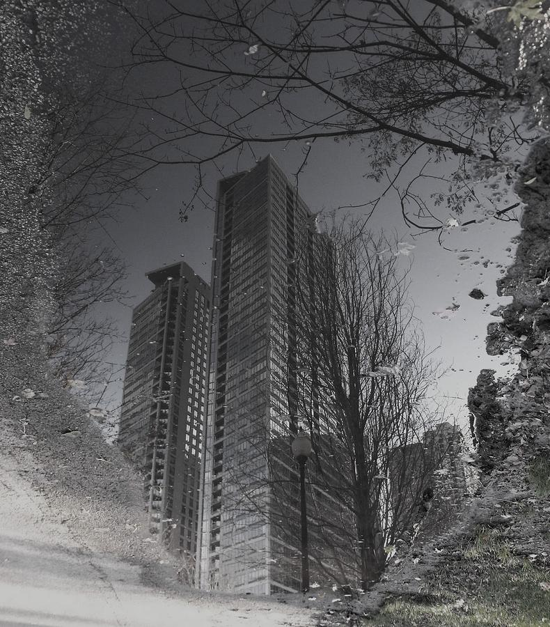 City Photograph - Mud Puddle Reflection I by Anna Villarreal Garbis