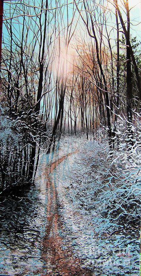 Muddy Path Painting  - Muddy Path Fine Art Print