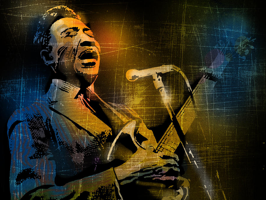 Muddy Waters Painting  - Muddy Waters Fine Art Print
