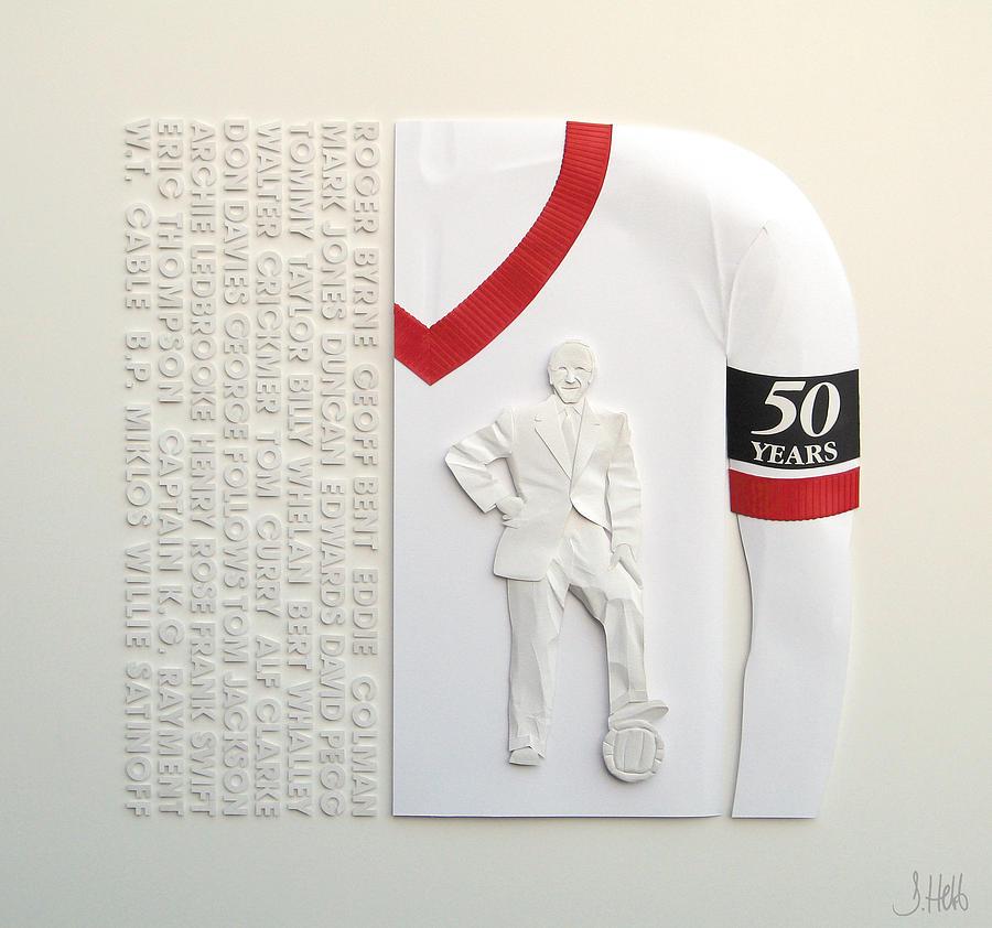 Manchester  United Fc Sculpture - Mufc Munich Crash 50 Year Anniversry by John Hebb