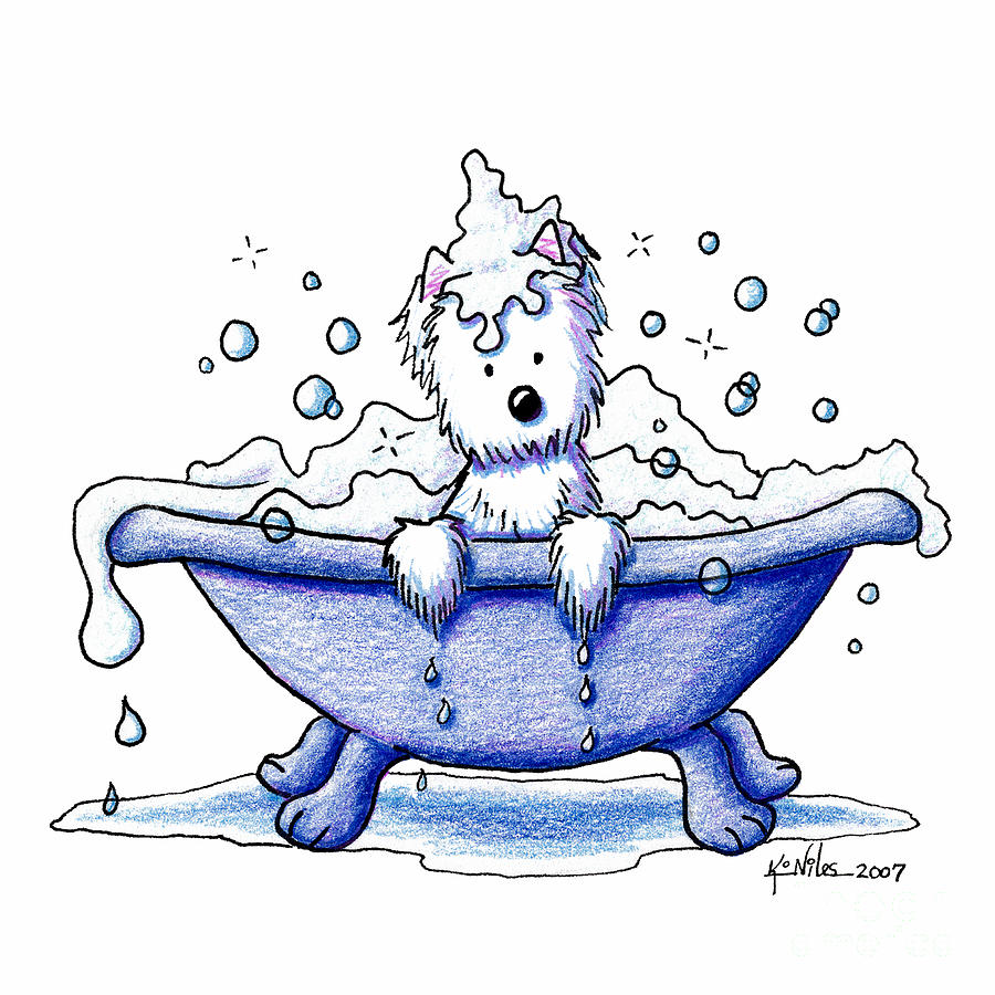 Muggles Bubble Bath Drawing  - Muggles Bubble Bath Fine Art Print