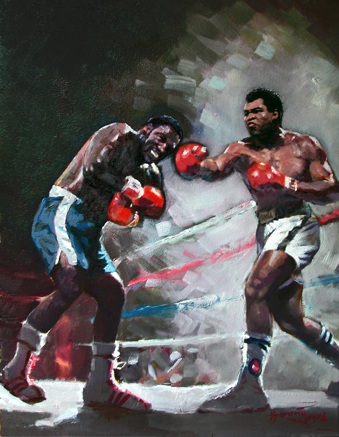 Muhammad Ali And Joe Frazier Painting  - Muhammad Ali And Joe Frazier Fine Art Print