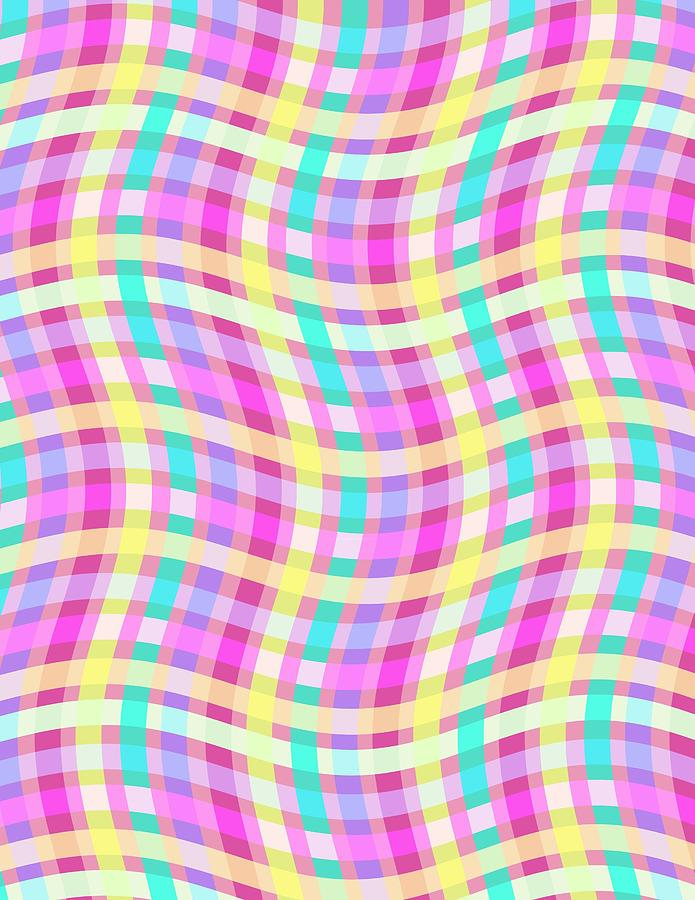 Multi Check Digital Art  - Multi Check Fine Art Print