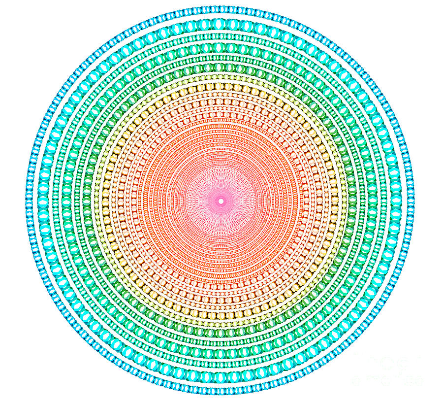 Multicolor Circle Digital Art