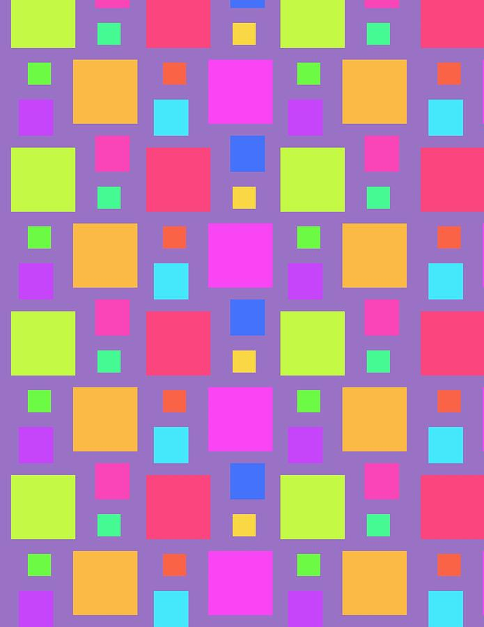 Multicoloured Squares Digital Art - Multicoloured Squares by Louisa Knight