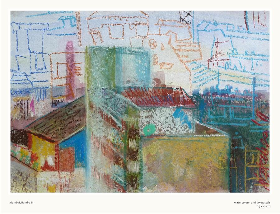 Mumbai Bandra IIi Pastel  - Mumbai Bandra IIi Fine Art Print