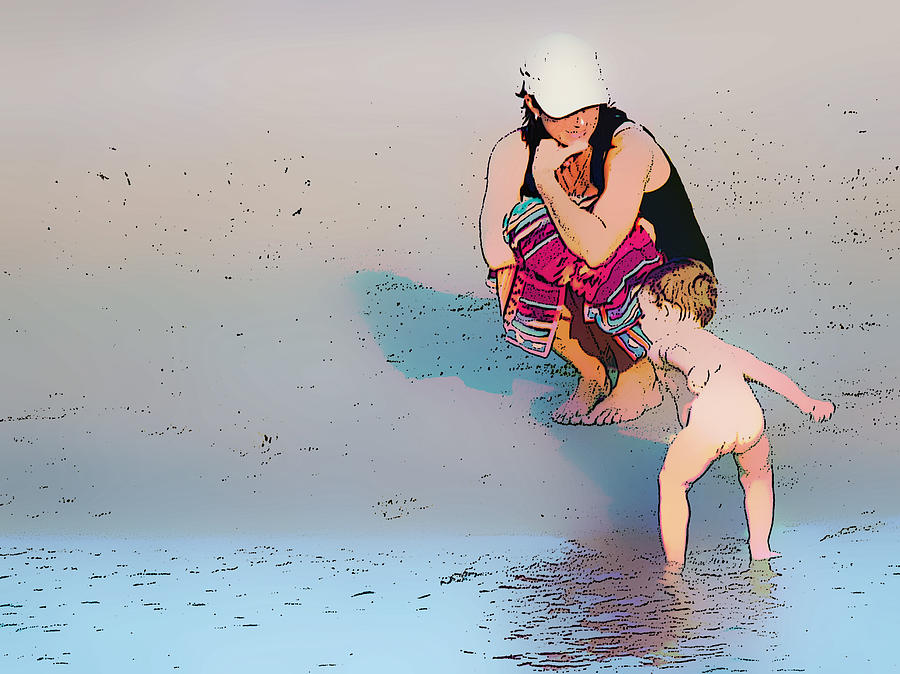 Mummy I Can Swim Digital Art