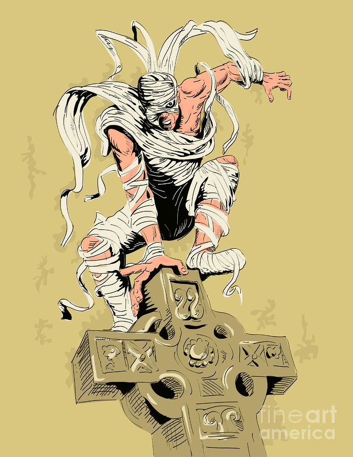 Mummy On Cross Digital Art