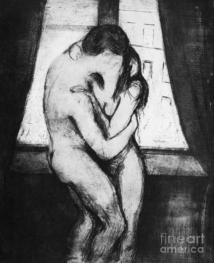 Munch: The Kiss, 1895 Photograph  - Munch: The Kiss, 1895 Fine Art Print