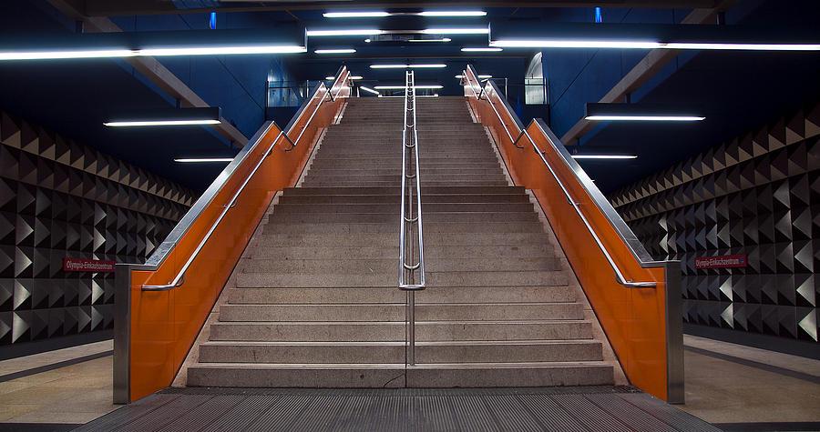 Subway Photograph - Munich Subway No.4 by Wyn Blight-Clark