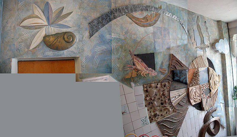 Mural Flounder - Digital Collage. 1988 Relief