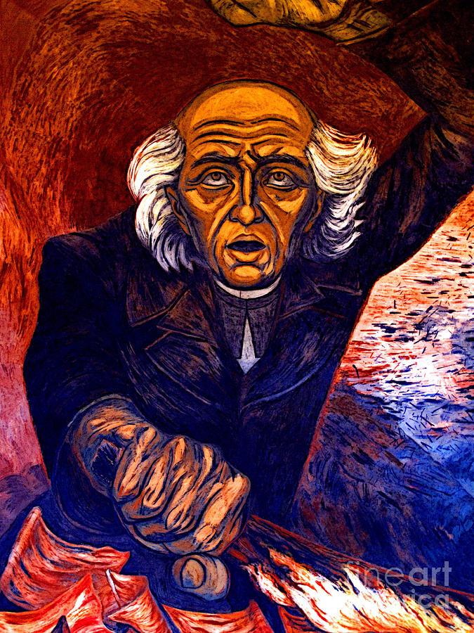 Mural Miguel Hidalgo By Orozco 2 Photograph