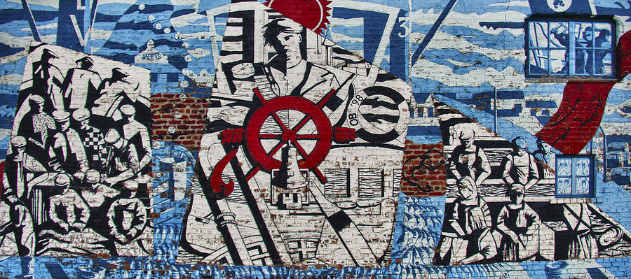 Mural On Wall At Mallaig Harbour In Scotland  Photograph
