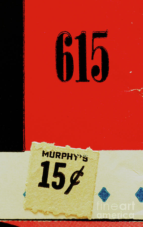 Murphys Red Abstract Collage Photograph  - Murphys Red Abstract Collage Fine Art Print