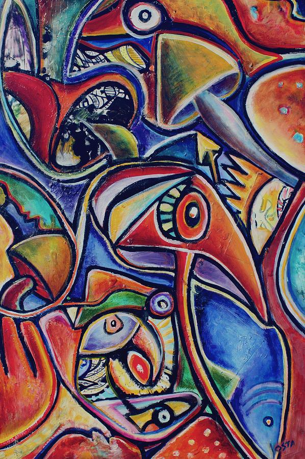 Mushroom Spirits Painting
