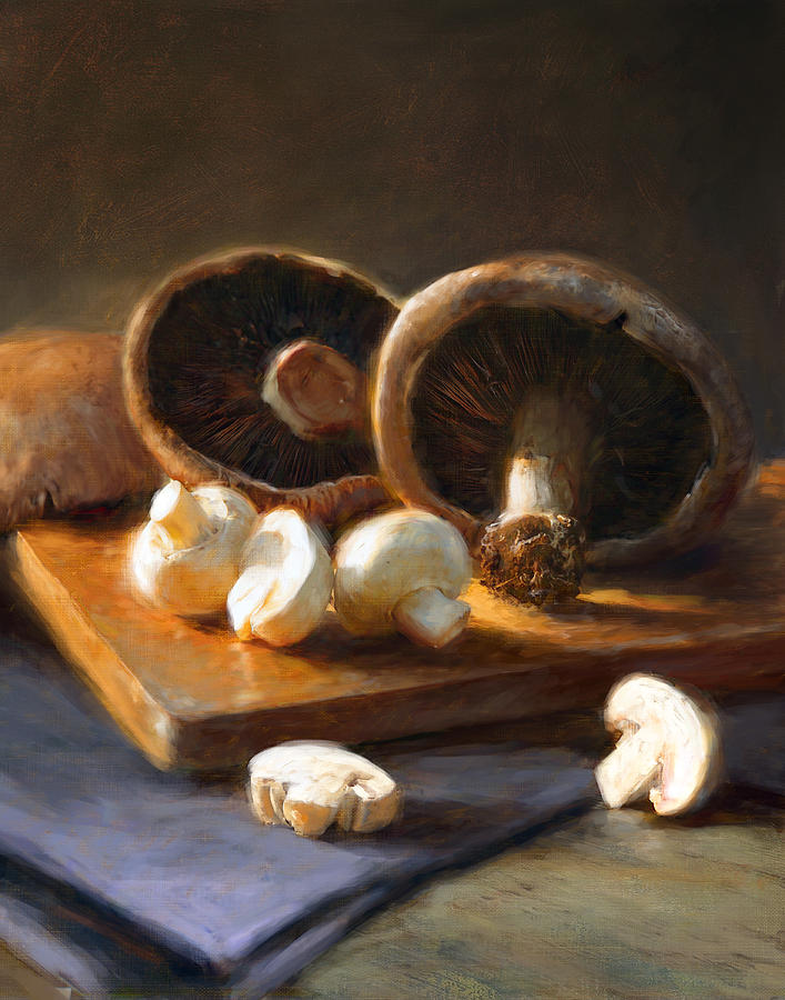 Mushrooms Painting