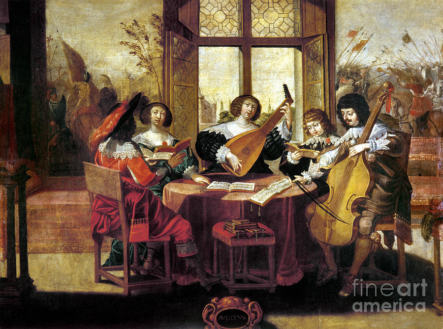 Music, 17th Century Photograph  - Music, 17th Century Fine Art Print