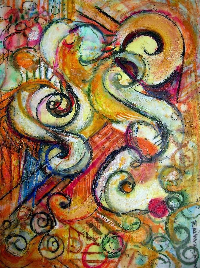 Music In Wax Painting