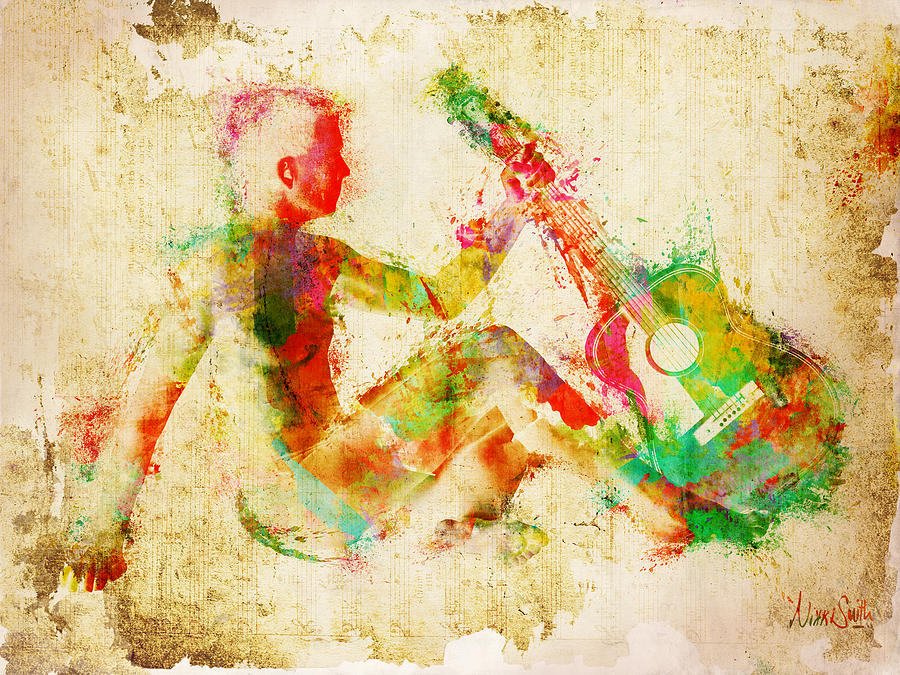 Music Man Digital Art  - Music Man Fine Art Print