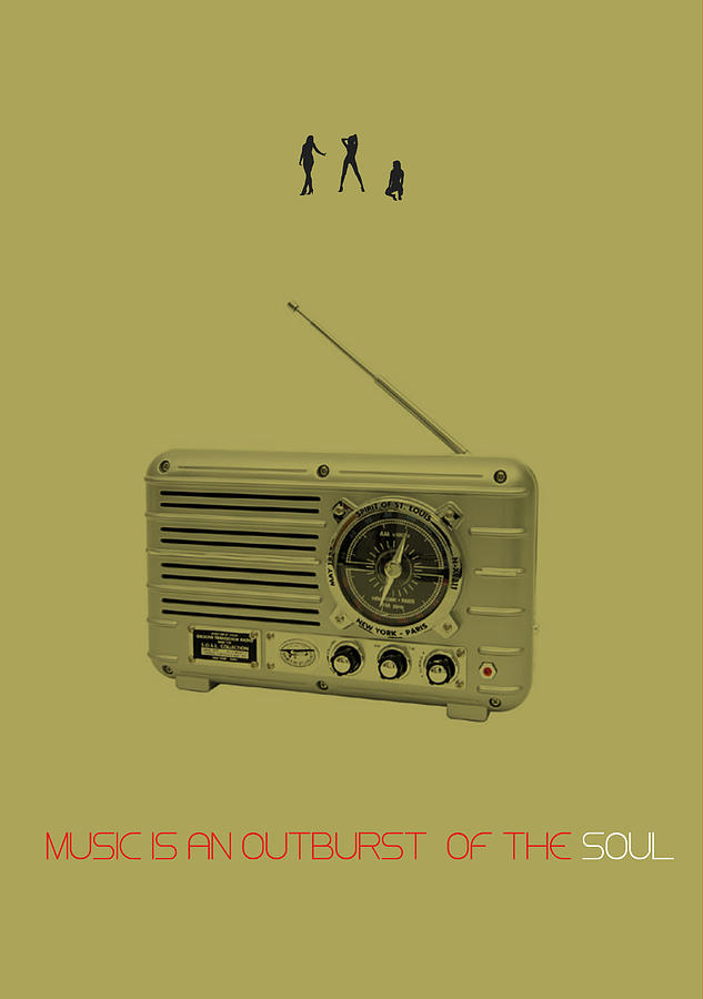 Radio Digital Art - Music Of Soul Poster by Naxart Studio