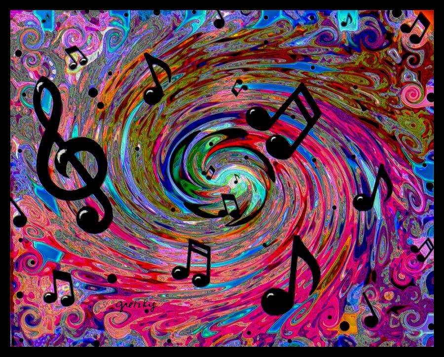 Abstract Music Notes Art: Painting With Music (18 Songs)