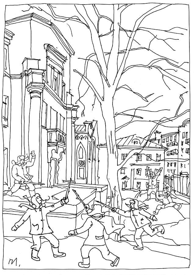 Musketeers Drawing