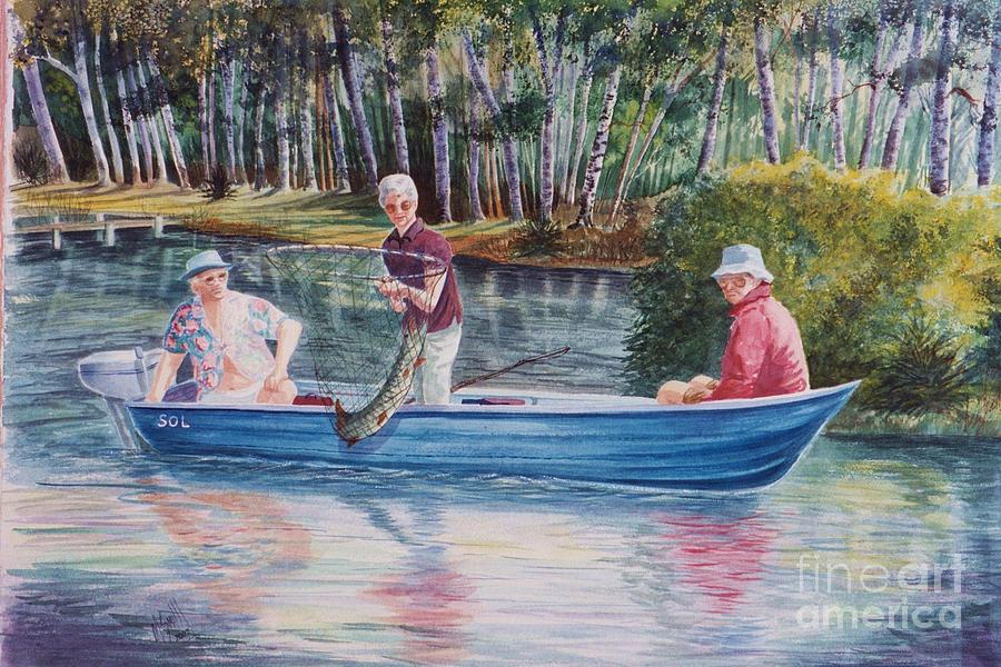 Musky Madness Painting