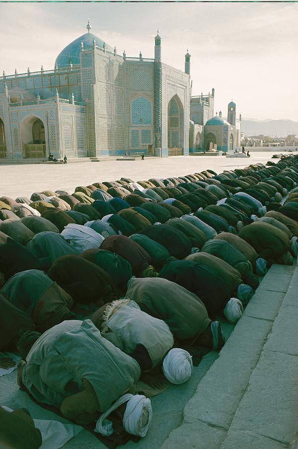 Muslims Praying In Afghanistan Photograph