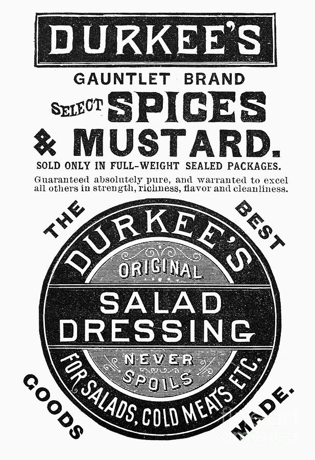 1887 Photograph - Mustard Ad, 1889 by Granger
