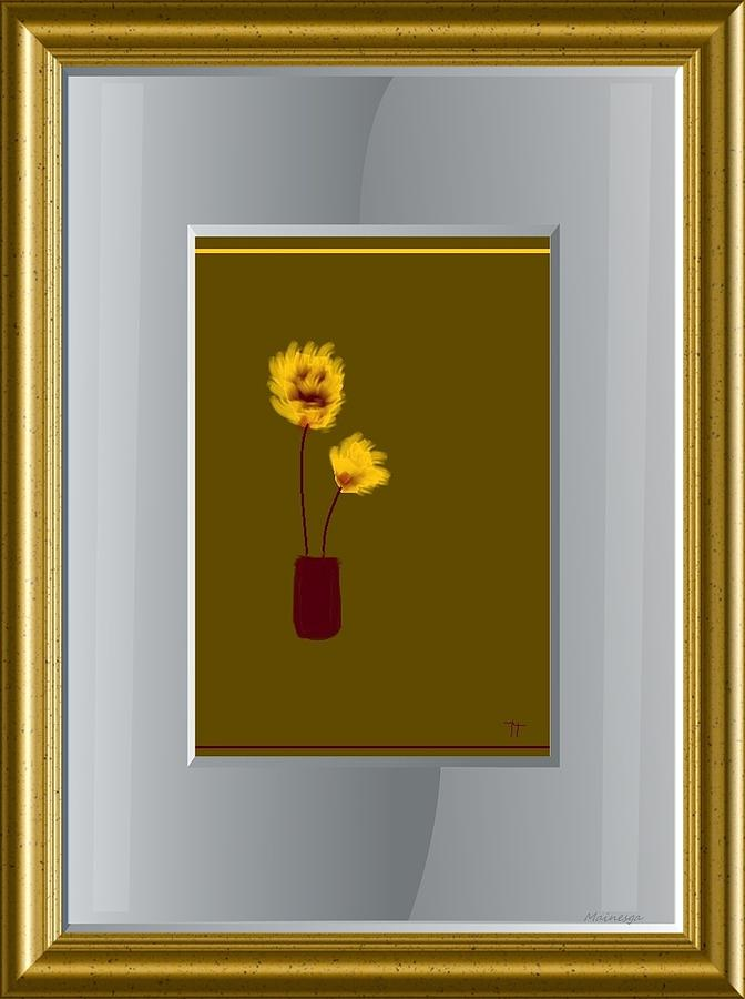 Mustard Vase Digital Art