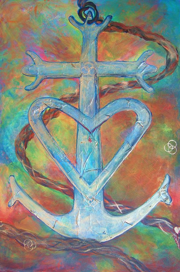 My Anchor Painting  - My Anchor Fine Art Print