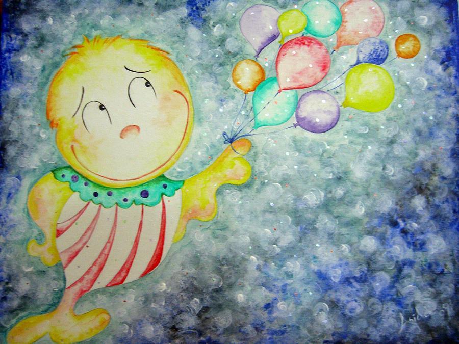 Fun Painting - My Baloons by Asida Cheng