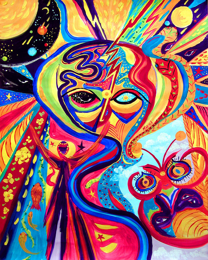 My Brain Painting  - My Brain Fine Art Print